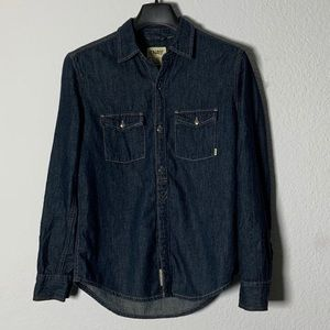 Aritzia TNA Sutter Denim Boyfriend Shirt